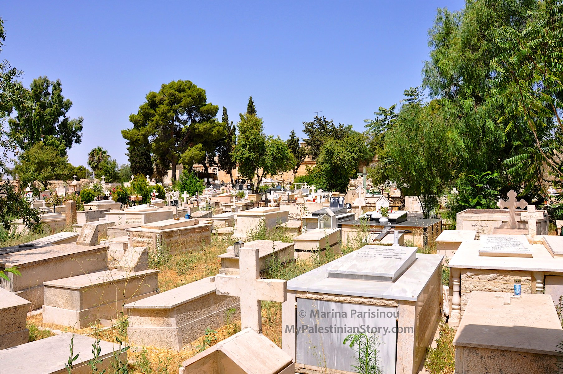 View of the Greek Orthodox Cemetery in Jerusalem