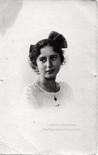 Yiayia Vitsa, my maternal grandmother, aged 16