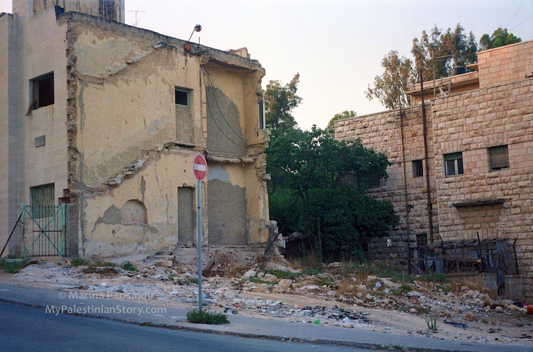 Site of Semiramis Hotel – 1986. Still destroyed.