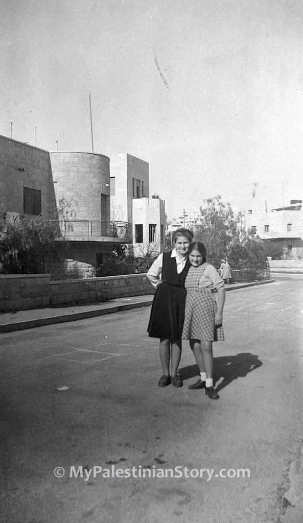 Anna and Jenny in Katamon