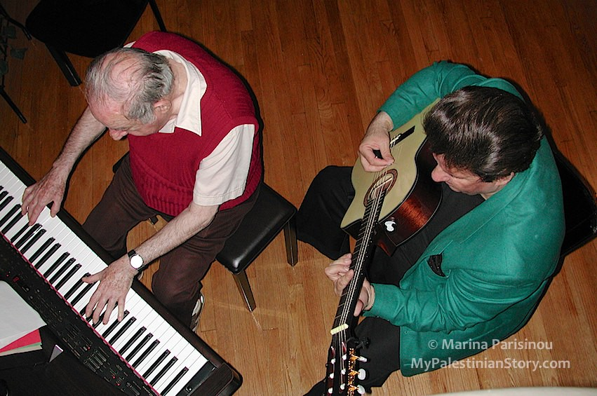 Colia at the piano accompanied by his nephew Alex Schtakleff on the guitar – New York, Mar 2003