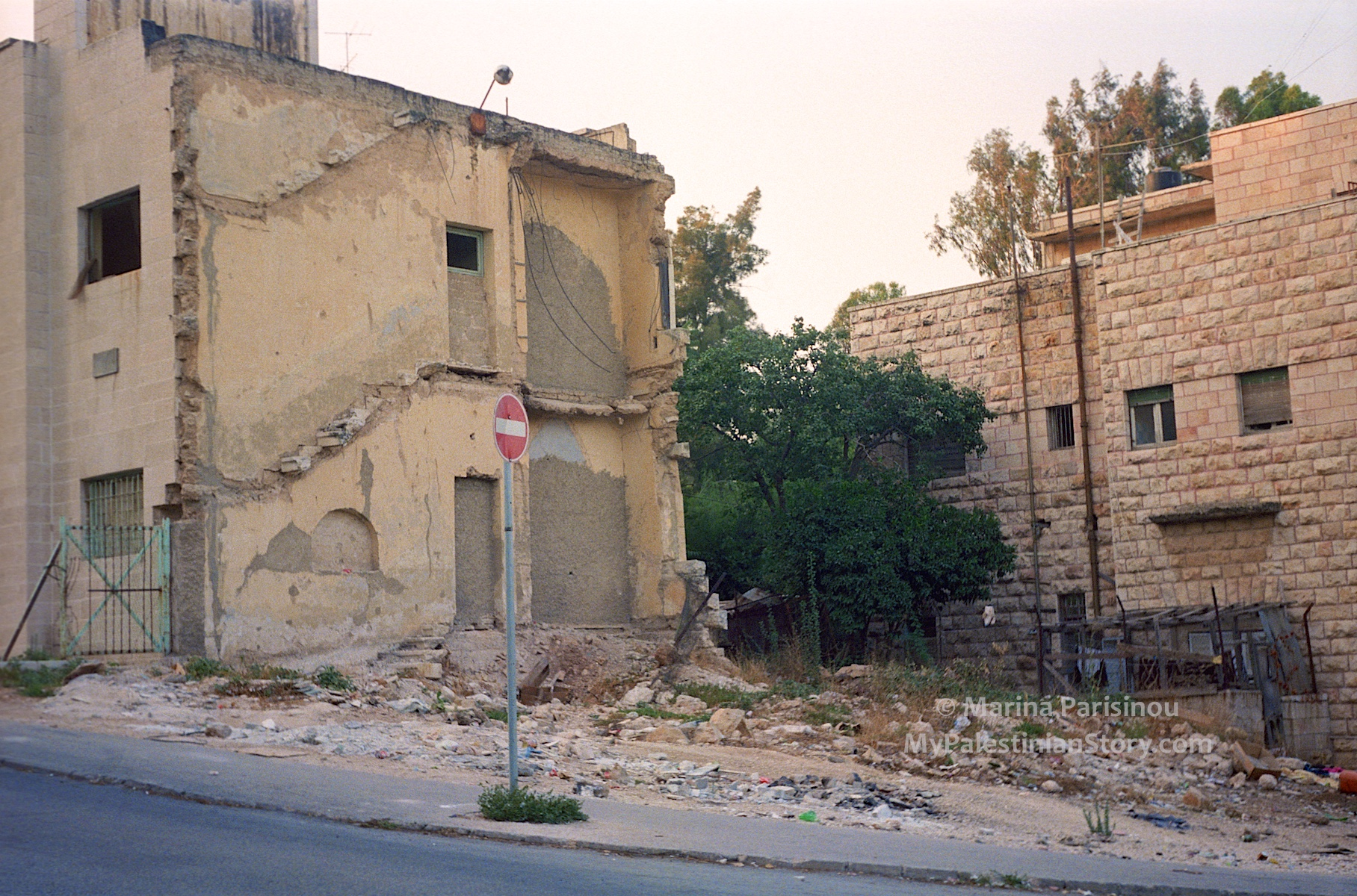 Remains of the Semiramis Hotel, 1986
