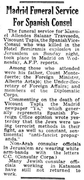The Palestine Post, 9 Jan 1948