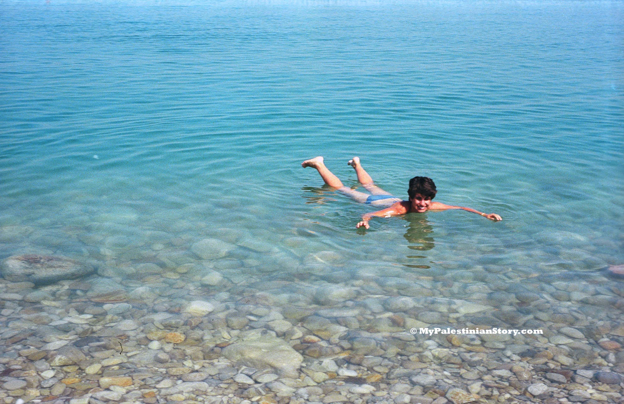 Floating at the Dead Sea - Aug 1986